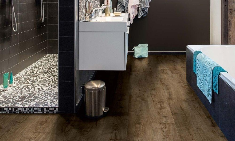 Laminátové podlahy Pergo - koupelna