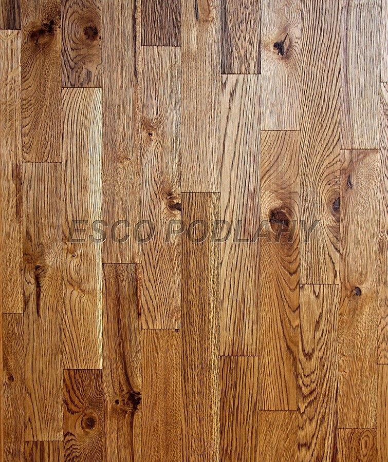 Dřevěné podlahy Esco - Dubové parkety olejované KOLONIAL - antik 3001