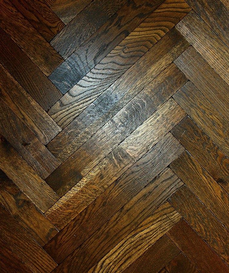 Dřevěné podlahy Esco - Dubové parkety olejované PELGRIM - hluboce kouřová