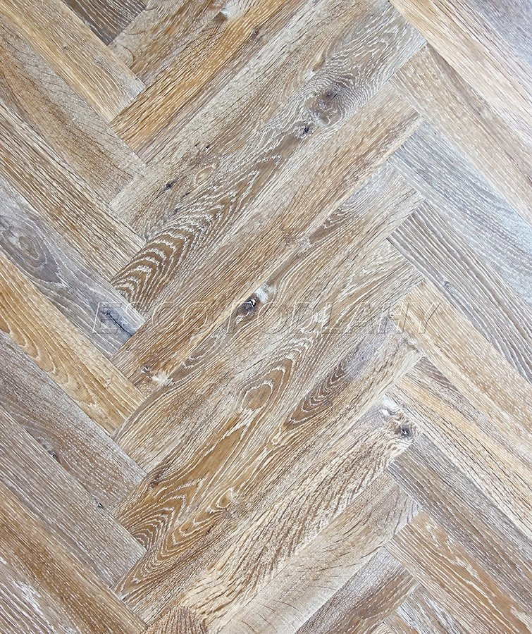 Dřevěné podlahy Esco - Dubové parkety olejované PELGRIM - kouřová bílá