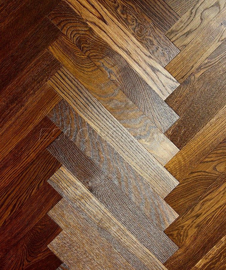 Dřevěné podlahy Esco - Dubové parkety olejované PELGRIM - kouřový tabák