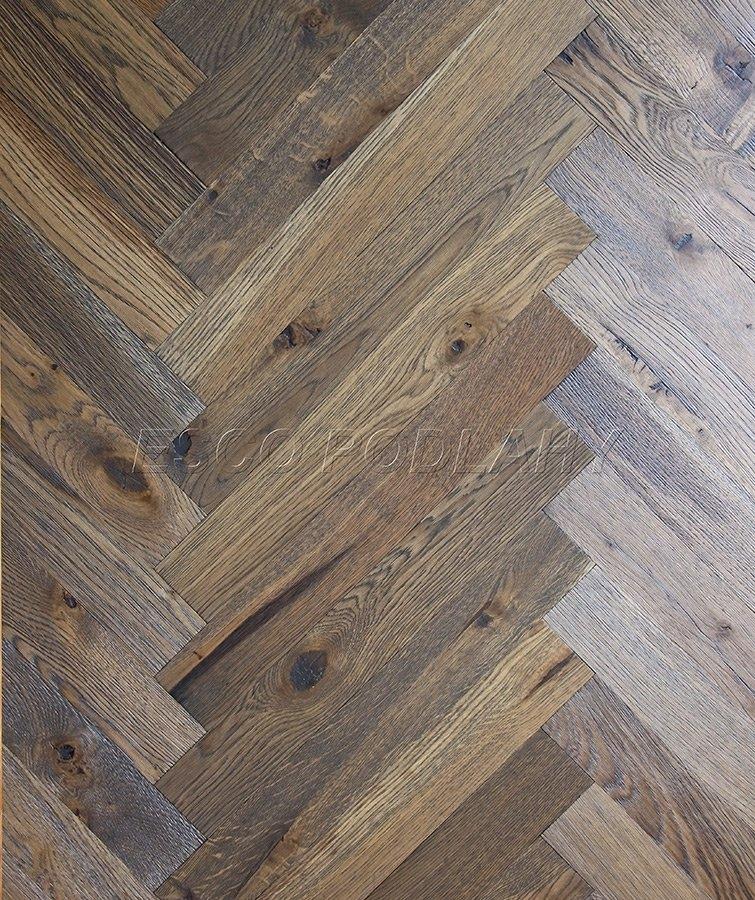 Dřevěné podlahy Esco - Dubové parkety olejované PELGRIM - šedá 2012