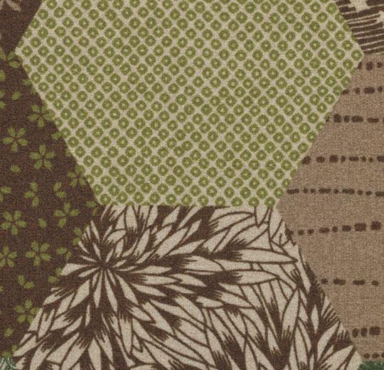 Vinylové podlahy Forbo Flotex vision floral 200001 Ecosystems Kimono Green