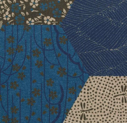 Vinylové podlahy Forbo Flotex vision floral 200002 Ecosystems Kimono Blue