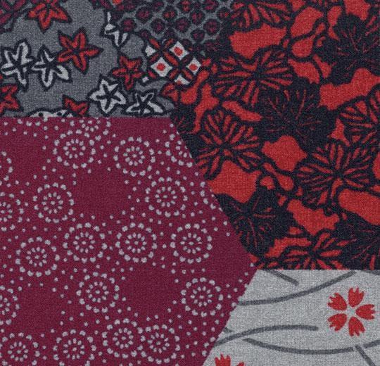 Vinylové podlahy Forbo Flotex vision floral 200003 Ecosystems Kimono Red