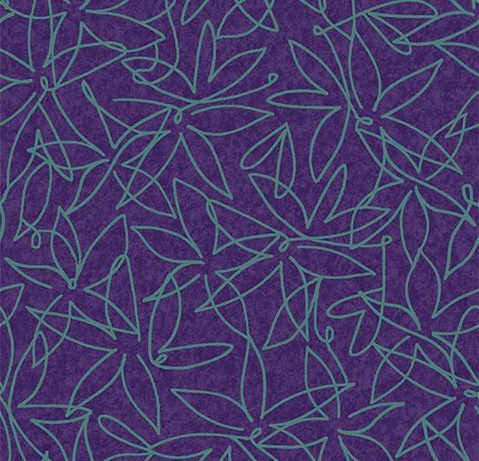 Vinylové podlahy Forbo Flotex vision floral 500017 Field Grape