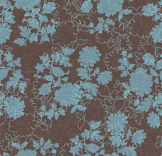 Vinylové podlahy Forbo Flotex vision floral 650007 Silhouette Mocha