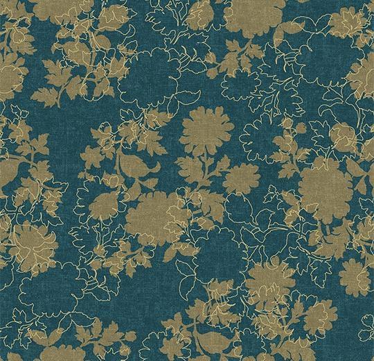 Vinylové podlahy Forbo Flotex vision floral 650009 Silhouette Neptune