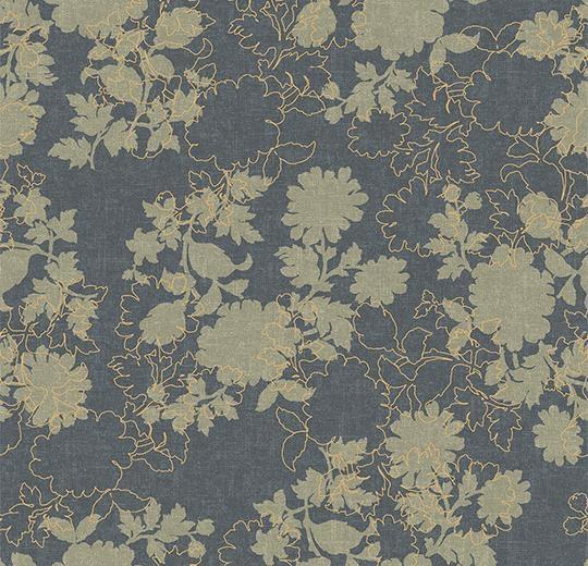 Vinylové podlahy Forbo Flotex vision floral 650011 Silhouette Steel