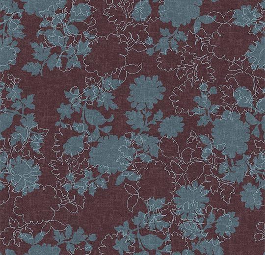 Vinylové podlahy Forbo Flotex vision floral 650012 Silhouette Berry