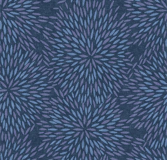 Vinylové podlahy Forbo Flotex vision floral 660012 Firework Lagoon
