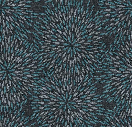 Vinylové podlahy Forbo Flotex vision floral 660014 Firework Tide
