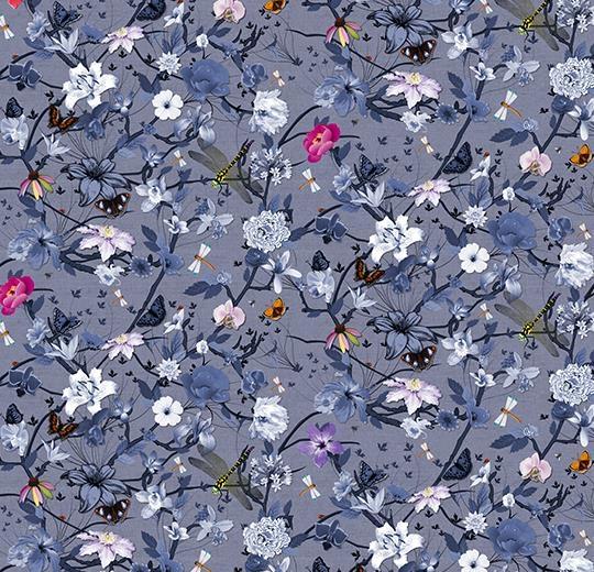 Vinylové podlahy Forbo Flotex vision floral 840005 Botanical Iris