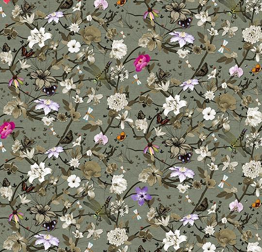 Vinylové podlahy Forbo Flotex vision floral 840006 Botanical Cyclamen