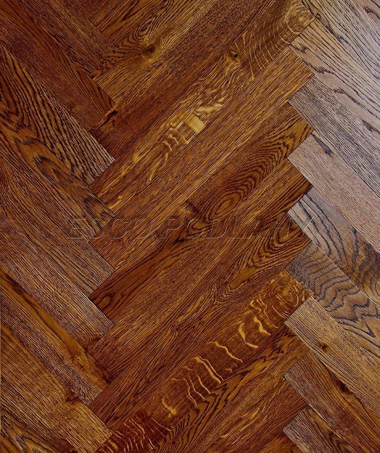 Dřevěné podlahy Esco - Dubové parkety olejované KOLONIAL - koňak
