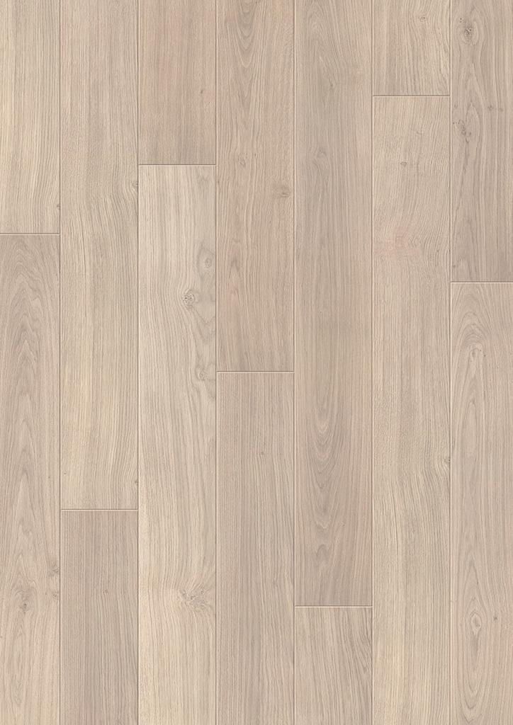 Laminátové plovoucí podlahy Quick Step Perspective UF1304 - DUBOVÁ PRKNA SVĚTLEŠEDÁ LAKOVANÁ