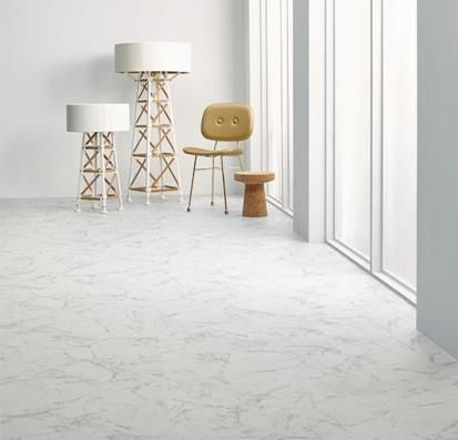 Forbo Allura Flex Material 63450FL1/63450FL5 white marble (50x50 cm)