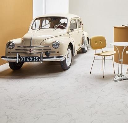 Forbo Allura Flex Material 63451FL1/63451FL5 white marble (100x100 cm)