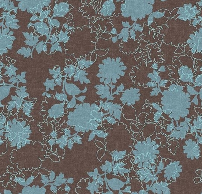 Forbo Flotex vision floral 650007 Silhouette Mocha