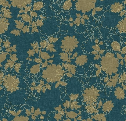 Forbo Flotex vision floral 650009 Silhouette Neptune