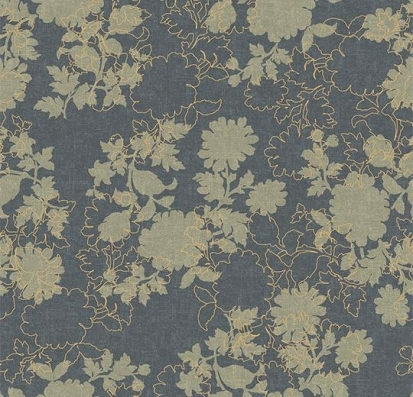 Forbo Flotex vision floral 650011 Silhouette Steel