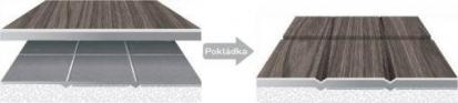 Ukázka pokládky na kachličkovou dlažbu v případě obyčejného PVC